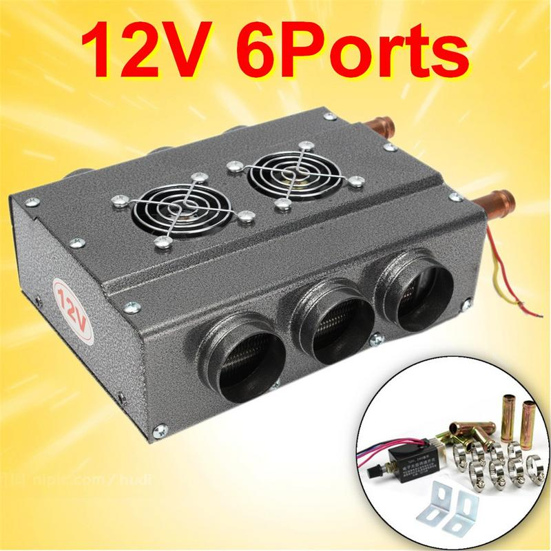 Dc 12v 24v 6 Ports Car Truck Heater Automotive Plumbing Air