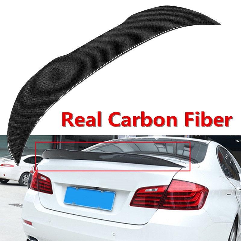 New Car Real Carbon Fiber Trunk Spoiler Wing Lid For BMW 2011-2017 F10 5Series 4 Dr Sedan Model Rear Trunk Wing SpoilerNew Car Real Carbon Fiber Trunk Spoiler Wing Lid For BMW 2011-2017 F10 5Series 4 Dr Sedan Model Rear Trunk Wing Spoiler
