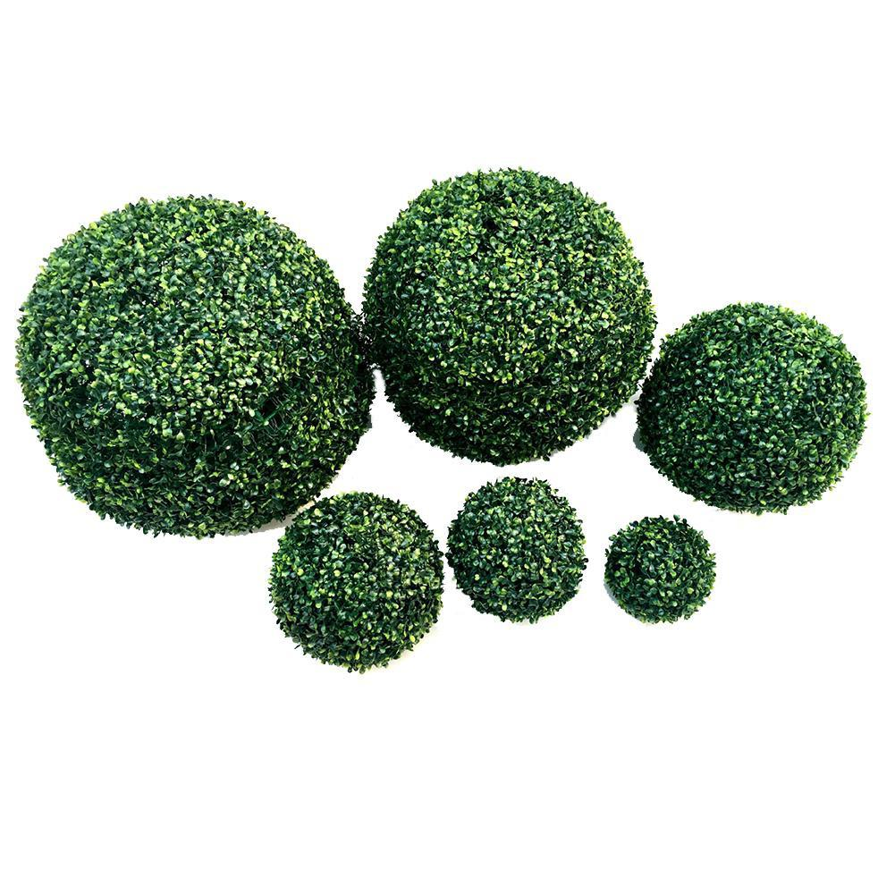 Image 3 - Simulate Plastic Green Leave Ball Artificial Grass Ball Home Garden Wedding Party Decoration-in Artificial & Dried Flowers from Home & Garden