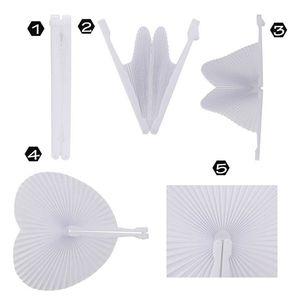 Image 3 - Ventilador de papel blanco redondo, decoración de corazón, regalo de fiesta de boda para invitados, aniversario, boda, fiesta DIY, 60 uds.