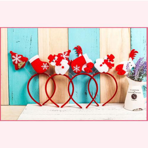Women Girl Hair Band Headband Reindeer Snowman Xmas Party Holiday Accessories