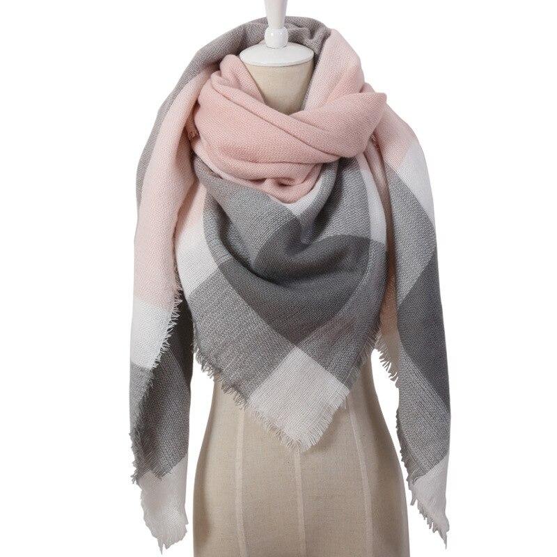 Scarf Female Euramerica New Style Triangle Autumn And Winter Faux Cashmere Acrylic Triangle Towels Shawl Bufanda De Las Mujeres