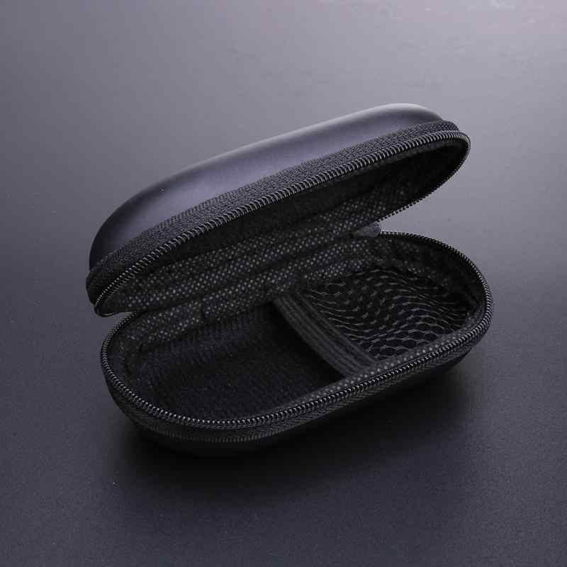 ポータブル楕円形evaケース携帯電話ヘッドセットのbluetoothイヤホンケーブル収納ボックスusb充電器ケーブルヘッドホンMp3 Mp4 キー