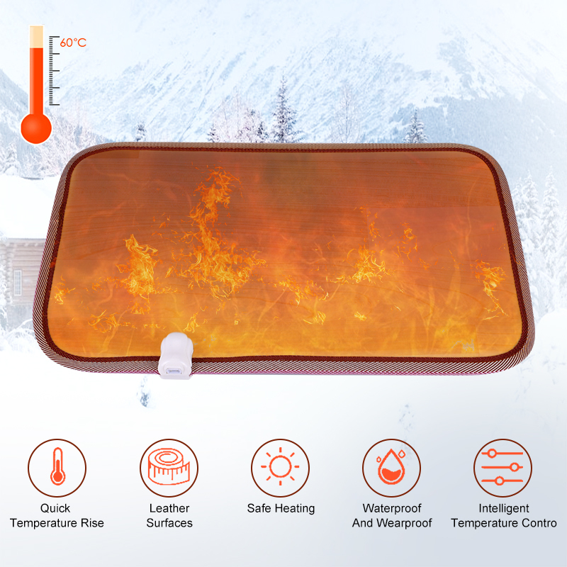 50*30 см теплый плагин для ног, нагревательный коврик для офиса, дома, Электрический зимний коврик для ног, термостат, водонепроницаемое тепло...