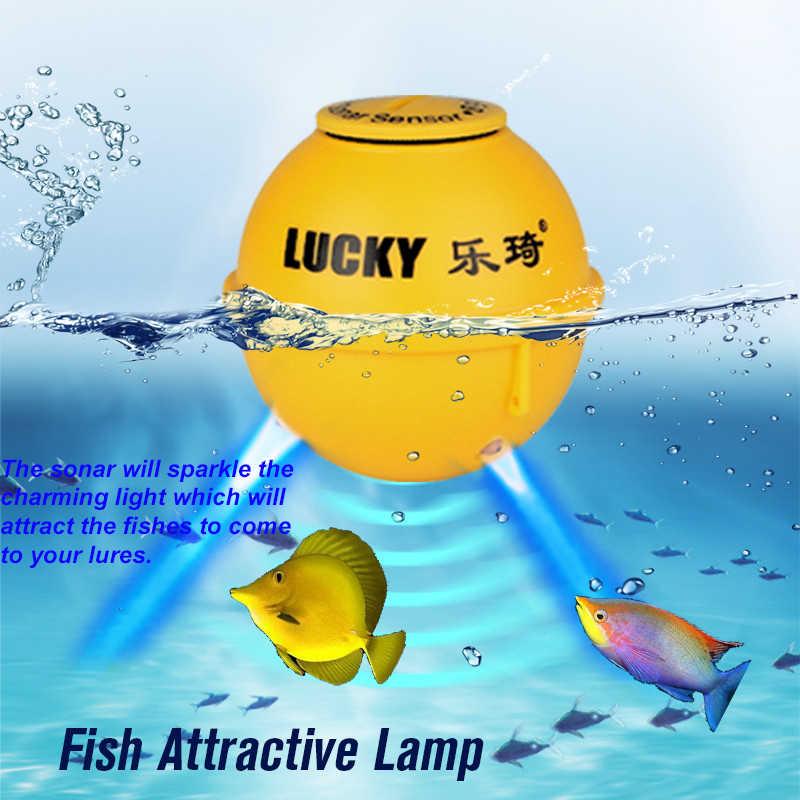 Lucky FF1108-1CWLA Sonar Fish Finder Wireless Boat Fishing Sensor Alarm Portable Fishfinder Echo Sounder Fish Radar Equipment