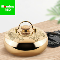 Chinese Ancient Royal Pure Copper Water Heating Stove Traditional Crafts Hand made Beautiful Pattern Hot Water Bottle