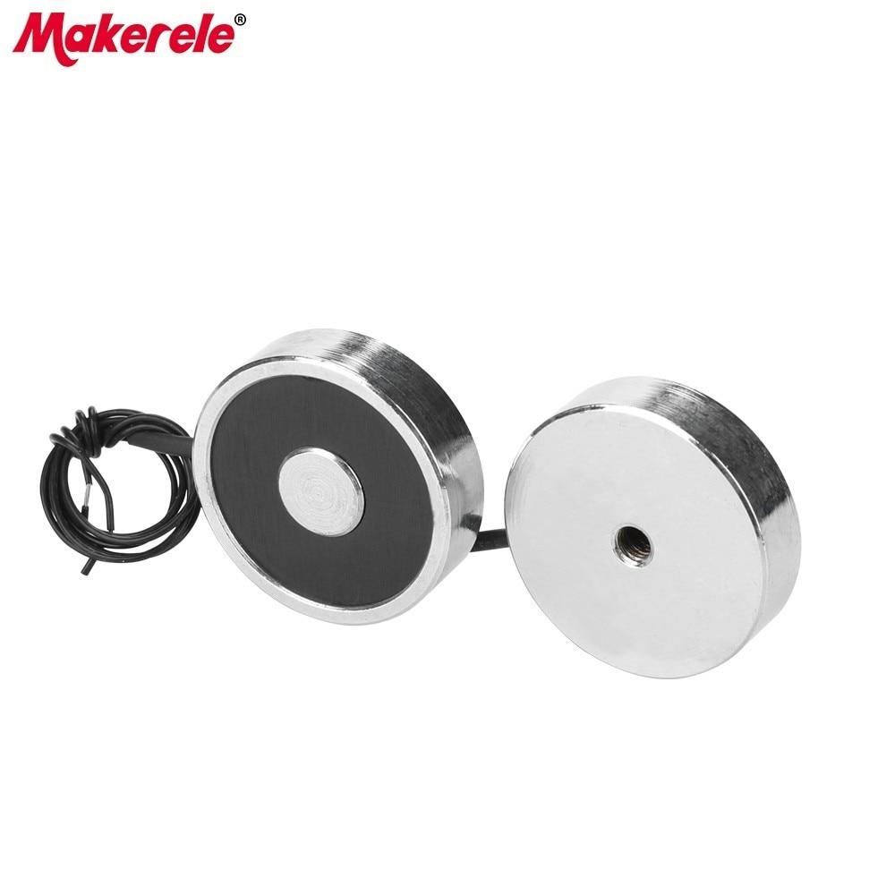 MK34 9 Mini Electromagnets For Sale Lifting 8KG 80N Holding Electric Magnet Solenoid Sucker Electromagnet DC 6V 12V 24V On Sale in Magnetic Materials from Home Improvement