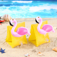 Baby Arm Swimming Ring Child Inflatable Pool Float Swimming Flamingo Crab Arm Ring Safety Training Swimming Circle Float Ring advanced child iv training arm injection arm