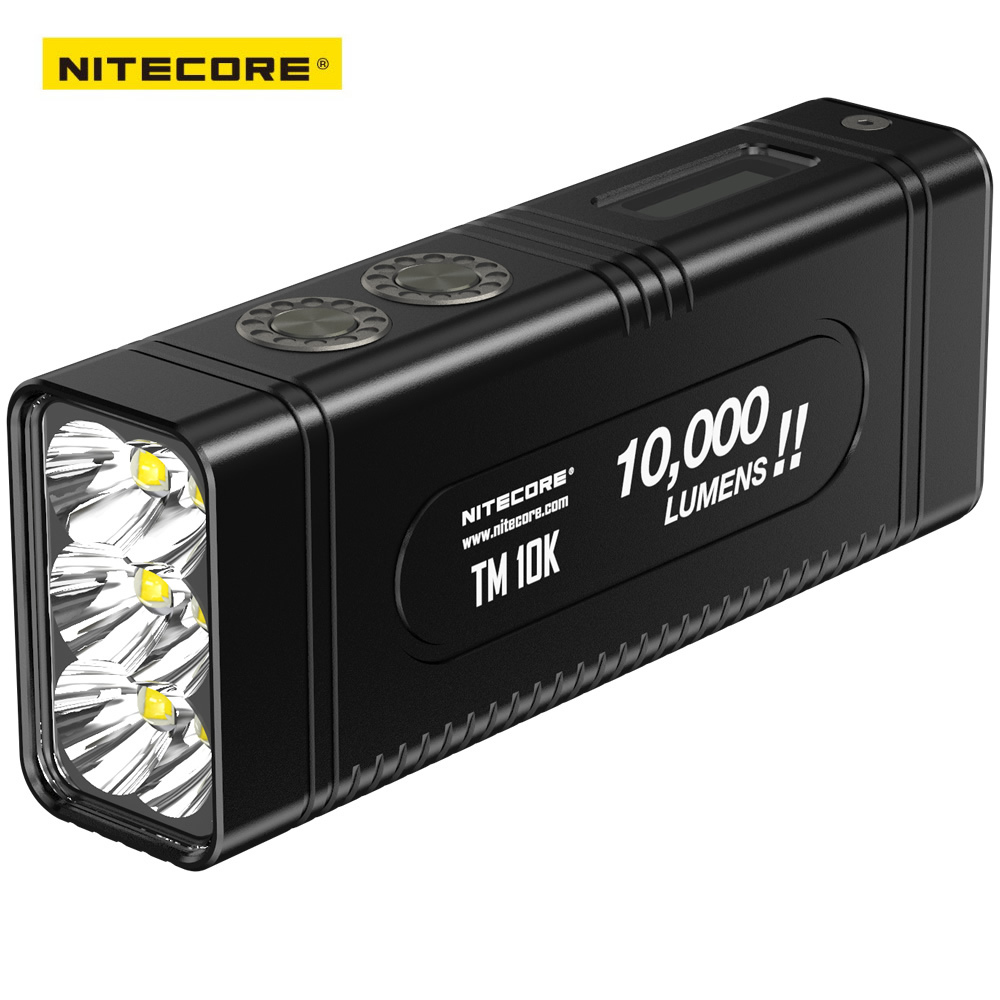 2018 NITECORE Tiny Monster TM10K 10000 Lumens 6 x CREE XHP35 HD LED Rechargeable Hight Light Flashlight Built-In 4800mAh Battery