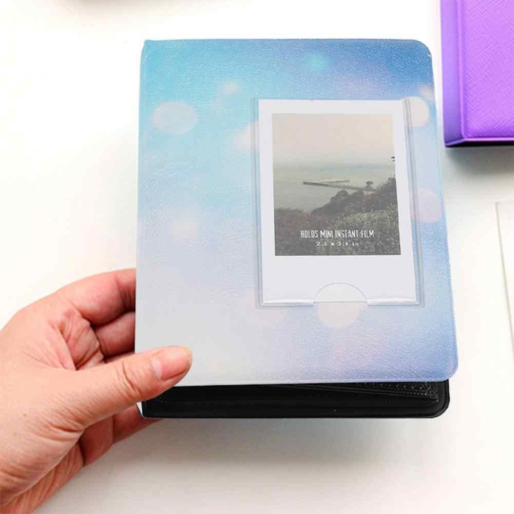 64 Pockets 3in Mini Photo Frame Photo Album for  7s/8/25/50s/90 Picture Case Storage