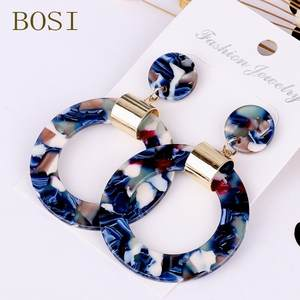 Earrings For Women Acrylic Boho 2019 Acetate Dangle Drop Earings Fashion Big Bohemian