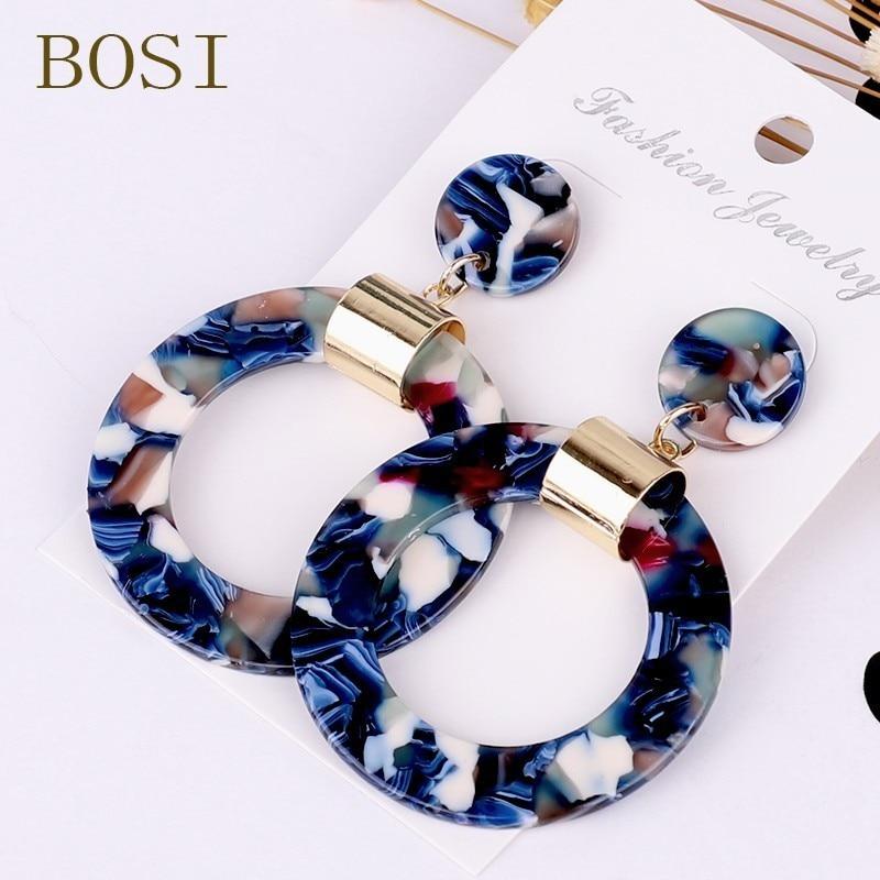 Earrings For Women Acrylic Boho 2020Acetate Dangle Drop Earrings Fashion Big Bohemian Accessories Geometric Luxury Trendy Face