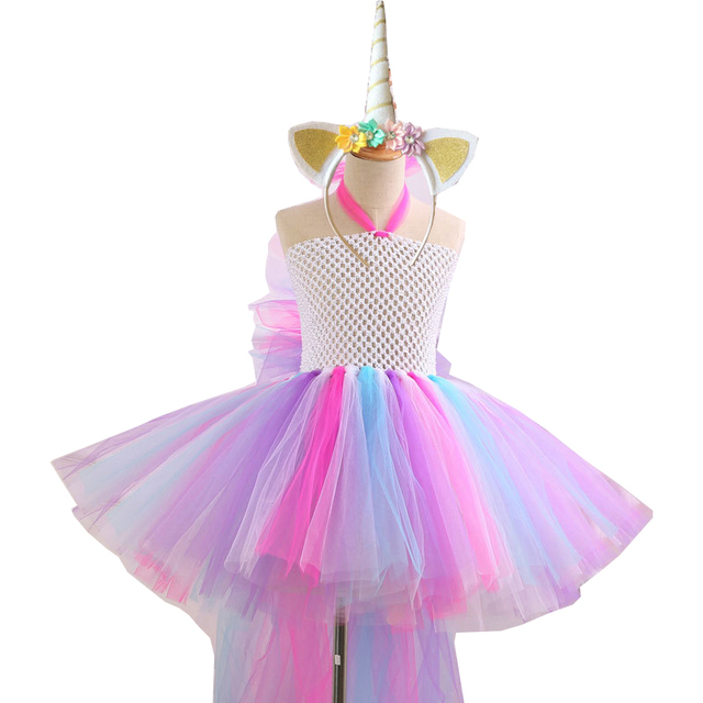 390ba1a13 Girls Unicorn Costume Cosplay Kids Unicorn Halloween Costume ...