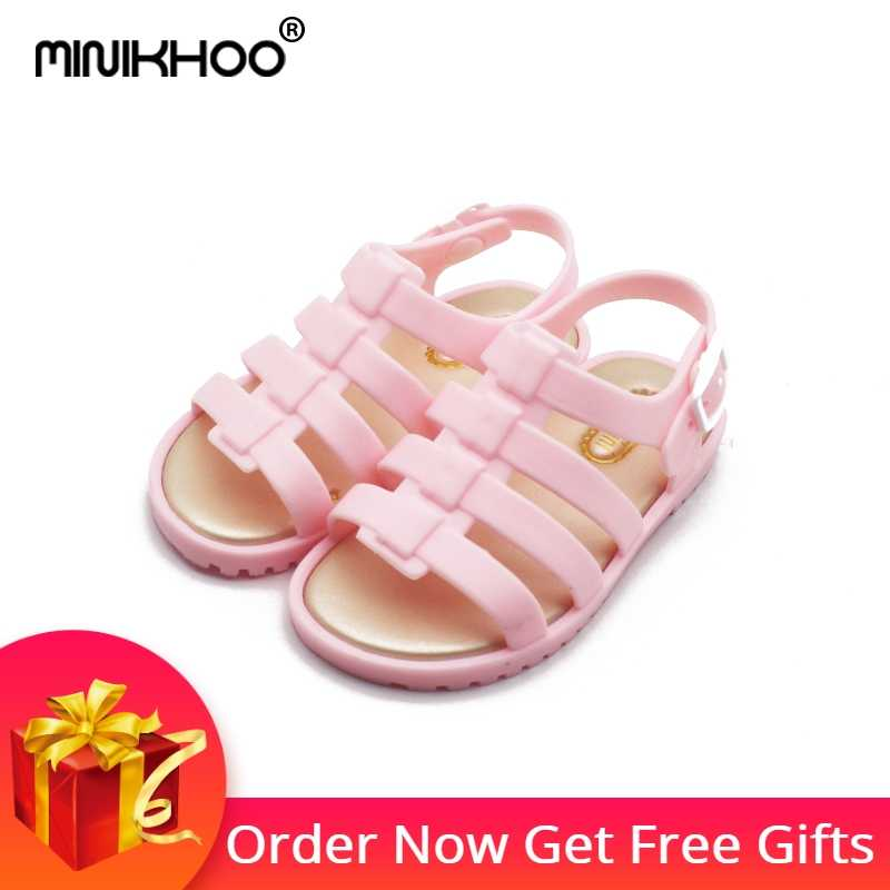 Mini Melissa Sandals Summer Kids Girls Boys Jelly Shoes Cartoon 4 Color Sandals  For Boys Infant 6f1149641024
