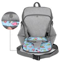Folding Waterproof USB Port Mummy Diaper Bag Dining Seat Chair Dining Seat Pad Maternity Backpacks Baby Nappy Backpacks