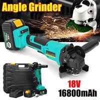 1300W 18V 100mm Electric Angle Grinder Cutting Tool Rechargeable Brushless Angle Grinder with Adapter
