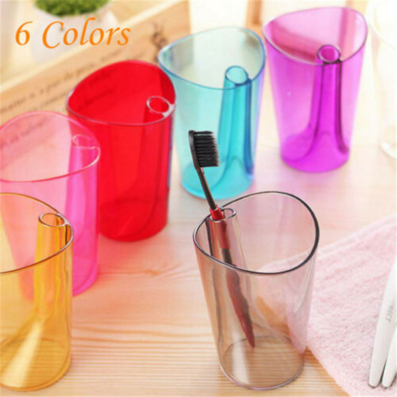 Toothbrush Cup Bathroom Fashion Simple Transparent Large Capacity Drinking Cup Mug Wash Gargle Cup Toothbrush Holder 300ml image