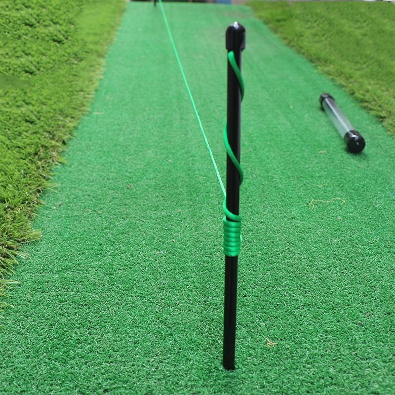 Golf Alignment Sticks Fiberglass Swing Putting String Pegs Golf Direction Practice Training Aids For Swing Training Practice