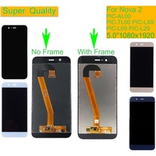10Pcs/lot For HUAWEI Nova 2 LCD Display Touch Screen Digitizer Assembly With Frame PIC-AL00 PIC-TL00 PIC-LX9 PIC-L09 PIC-L29