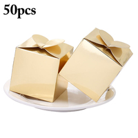50PCS Wedding Candy Boxes All Purpose Party Favor Boxes Candy Favor Boxes for Wedding Graduation Mother's Day Party Decor