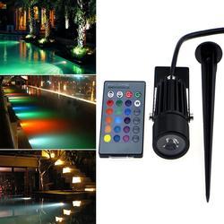 Litake LED RGB wodoodporna lampa trawnikowa z pilotem funkcja pamięci spot światło krajobrazu lampa trawnikowa ada podwodne lampy