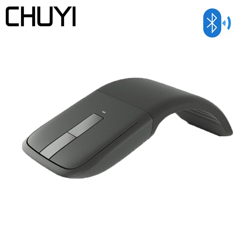 CHUYI Bluetooth Wireless Arc Touch Mouse 1200DPI Optical Folding Slim Notebook Mause