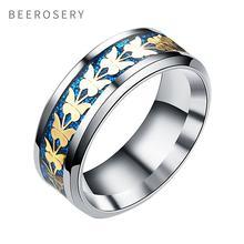 Модное кольцо beeroseri из нержавеющей стали для женщин и мужчин