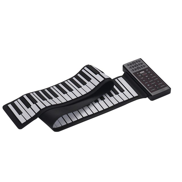 Portable Electric 88 Keys Hand Roll Up Piano Multifunction Digital Piano Keyboard Built in Speaker Rechargeable Lithium Battery