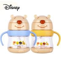 2019 Disney Baby Drinking Cups Kids Cartoon Winnie The Pooh Cups Baby Anti choke Anti fall Sippy Feeding Cup Birthday Gifts