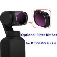 DJI Осмо карман Камера фильтр Профессиональный Водонепроницаемый MCUV/CPL/ND4 8 16 32 64/ND-PL Камера объектив Фильтры для DJI Осмо карман