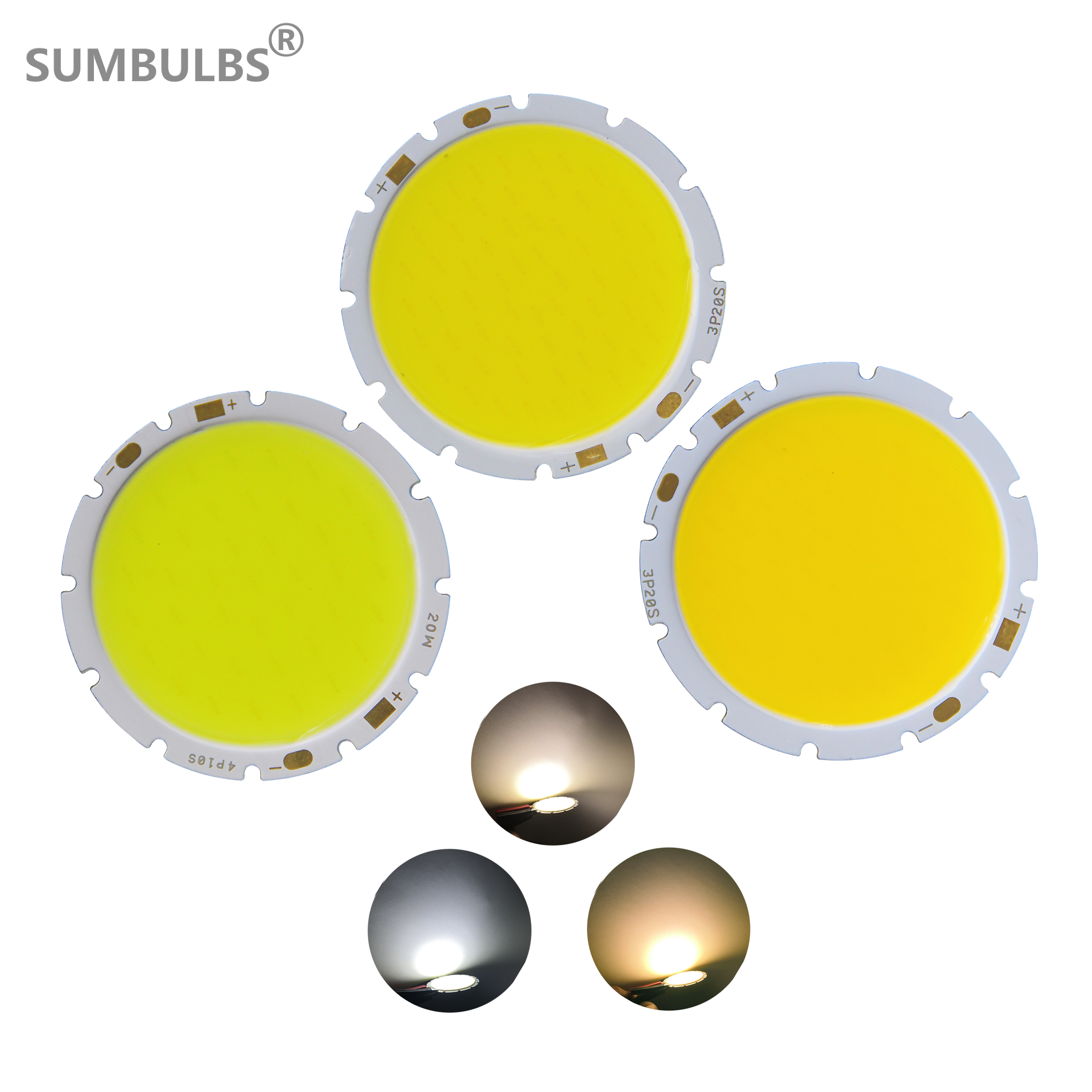 4942 Downlight Bulb LED COB Light Source 49mm Round 15W 20W 30W Chip On Board LED Warm Nature Cold White For Diy Lamp