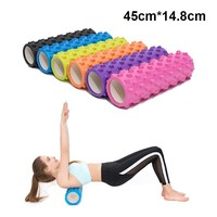 Yoga Block Fitness Equipment Eva Foam Yoga Roller Pilates Fitness Train Gym Home Exercises Physio Roller Yoga Column 45*14.8cm