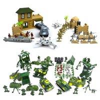 300PCS Plastic Military Toys Set Mini Soldier Model Army Men Figures Model Building Figurines Children Kids Toy Kits Gifts