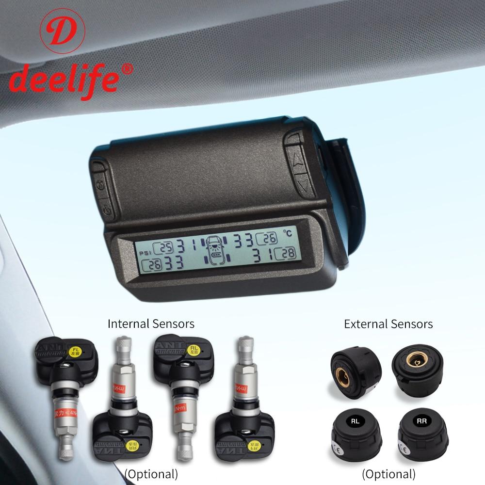 Deelife система мониторинга давления в шинах TPMS солнечный автомобиль лобовое стекло давление в шинах сигнализация TMPS Беспроводной внешний/вну...