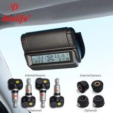Lastik basıncı izleme sistemi TPMS sensörü güneş araba güvenlik akıllı lastik kontrol kablosuz 4 tekerlekler harici dahili