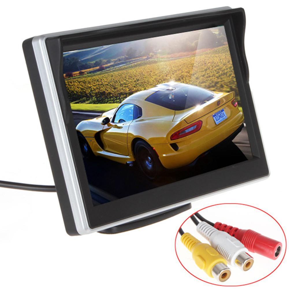 Adeeing Car HD display 5 Inch Rearview Mirror HD Display – Button Control 4:3 Ratio 480×272 Car HD Display TFT-LCD rNO