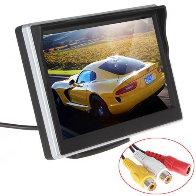 Adeeing coche pantalla HD de 5 pulgadas espejo retrovisor HD display-botón de Control Relación 4:3 480x272 HD pantalla TFT-LCD rNO