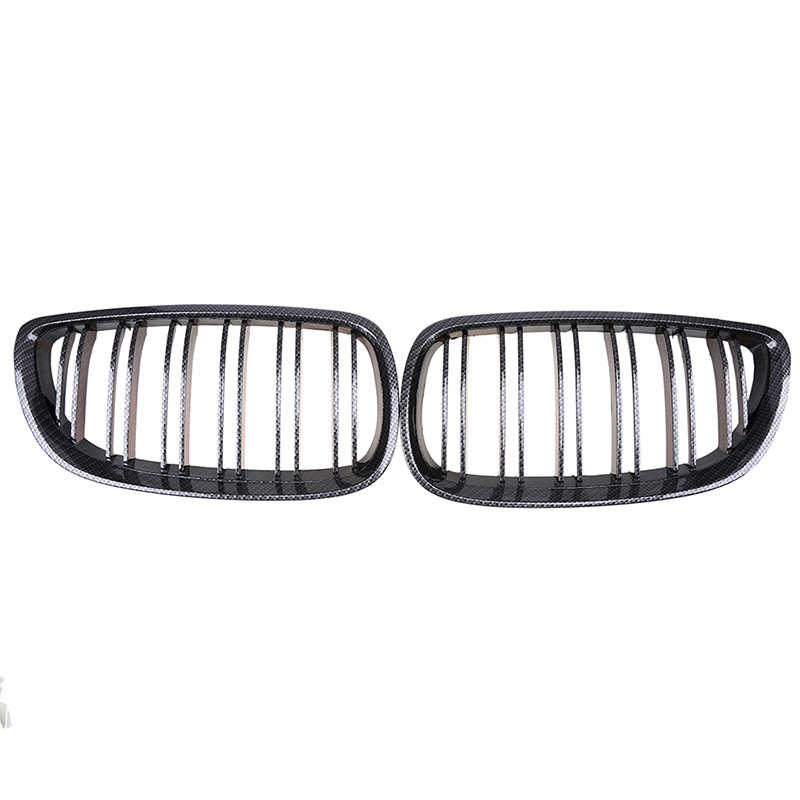 POSSBAY Imitation Carbon Fiber Center Grille for BMW 3-Series E92 335i/335xi/M3/330i Coupe 2006-2010 Pre-facelift Car Grills