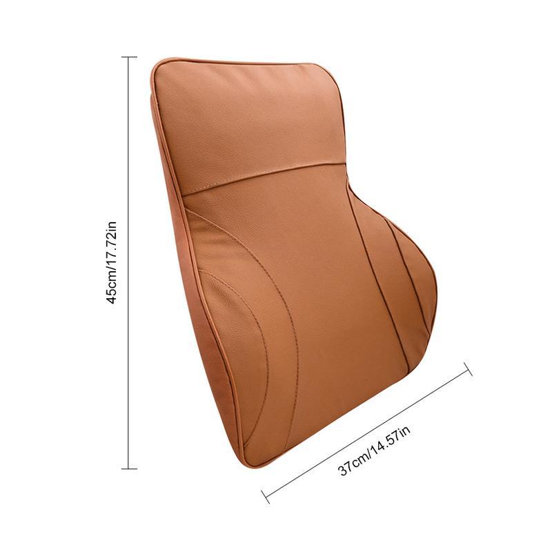 Voiture PU cuir mémoire coton soutien lombaire taille coussin coussin voiture dossier coussin oreiller