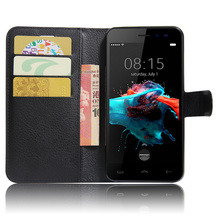 Phone Cases for Homtom HT16 case Litchi Grain PU Leather Flip Stand Card Slots Magnetic Wallet Case For Doogee