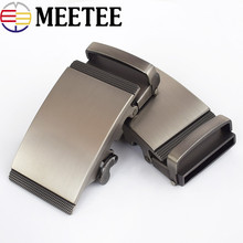 Meetee Men s Belt  Alloy Automatic Buckle Mens Fashion Leather Head Jeans Accessories Fit 3.5mm