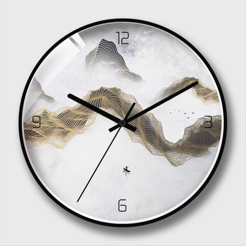 New 12/14 Inch 3D Home Wall Clock Art Clock Wall Hanging Clock Decoration Table Atmosphere Silent Electronic Large Size Clock
