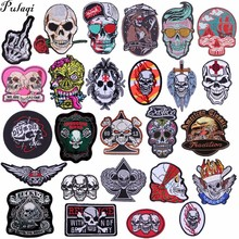 Pulaqi Arm Badge Punk Iron Sew On Clothes Patches Embroidered Biker Decor For Hat Garment Accessories Favourite  H