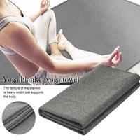 Yoga Meditation Floor Mat Fitness Yoga Non slip Warm Blanket Exercise Sport Mat Beach Picnic Travel Camping Carpet 200*150 Cm