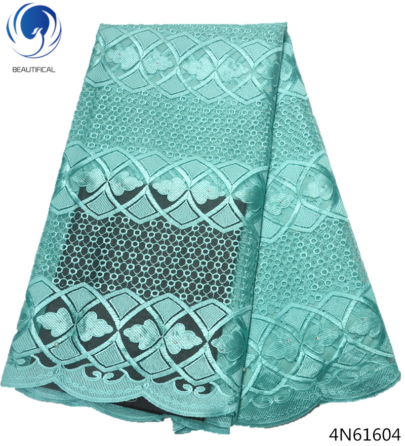Beautifical mesh lace fabric blue lace fabric wholesale cheap lace fabric hot shopping 5yards piece for wedding dress 4N616 in Lace from Home Garden