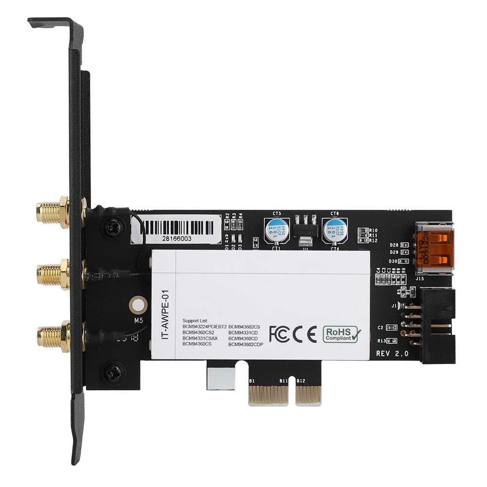 BCM943602CS + Bluetooth 4.1 1750Mbps 802.11AC carte réseau sans fil PCi-E pour Mac OS offre spéciale