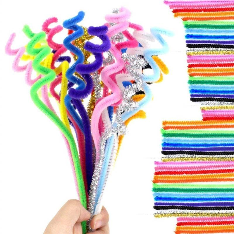 200 PCS  Random Colors Pipe Cleaners Chenille Stem 30cm*6mm Smooth Processing At Both Ends Safe And Humanized Design