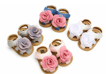 Pudcoco Summer Princess Toddler Baby Infant Kid Girls Soft Sole Crib Flower  Non-slip Sandals Shoes 0-18M