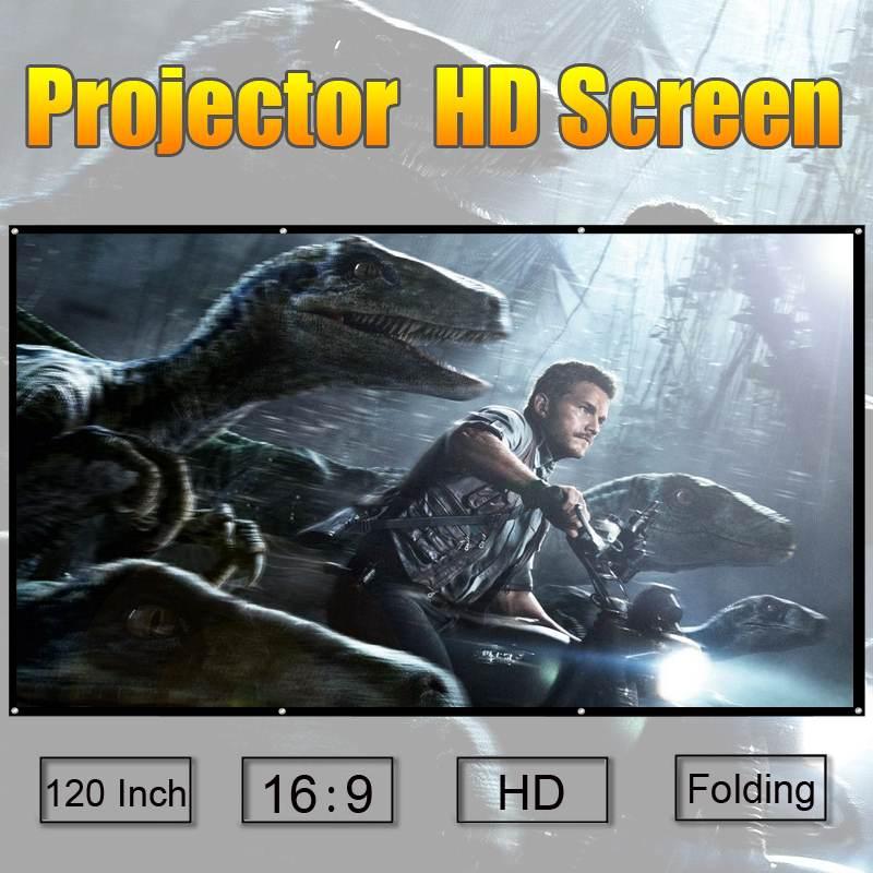 1 pièces 120 pouces HD écran de Projection Flexible pliable écran de Projection pour la formation en classe Home cinéma Portable écran