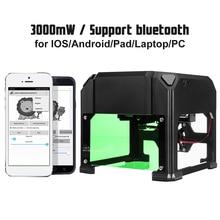 Nieuwe Upgrade 3000Mw Compact Desktop Bluetooth Laser Graveermachine Diy Logo Mark Printer Cutter Cnc Laser Carving Machine